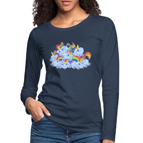 Moar unicorns! - Maglietta Premium a manica lunga da donna