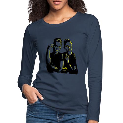 ATTITUDE<>WOKE (yellow) - Dame premium T-shirt med lange ærmer
