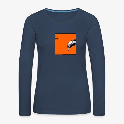 Beak Original Artwork - Långärmad premium-T-shirt dam