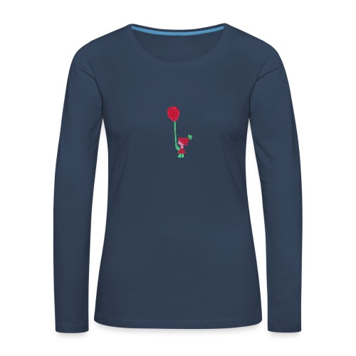 erdbeermädchen - Frauen Premium Langarmshirt