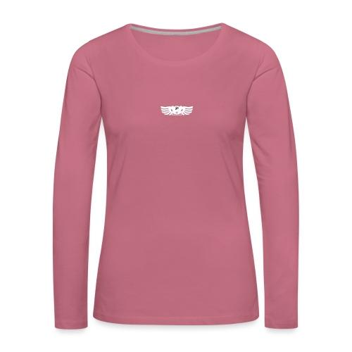 LOGO wit goed png - Vrouwen Premium shirt met lange mouwen