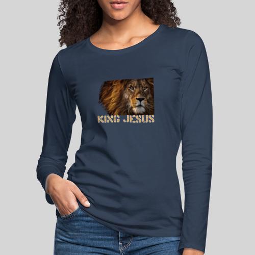König Jesus der Löwe von Juda - Frauen Premium Langarmshirt