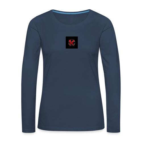 Logo - Dame premium T-shirt med lange ærmer