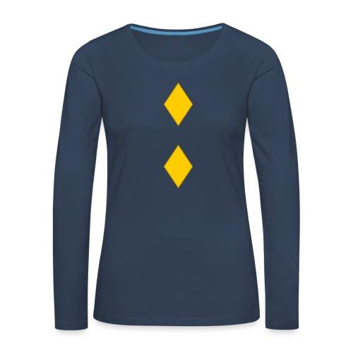 Upseerikokelas - Naisten premium pitkähihainen t-paita