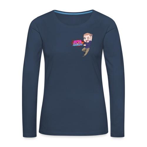Jørgen spiller lommemonstre - Dame premium T-shirt med lange ærmer