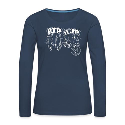 lblanco - Camiseta de manga larga premium mujer