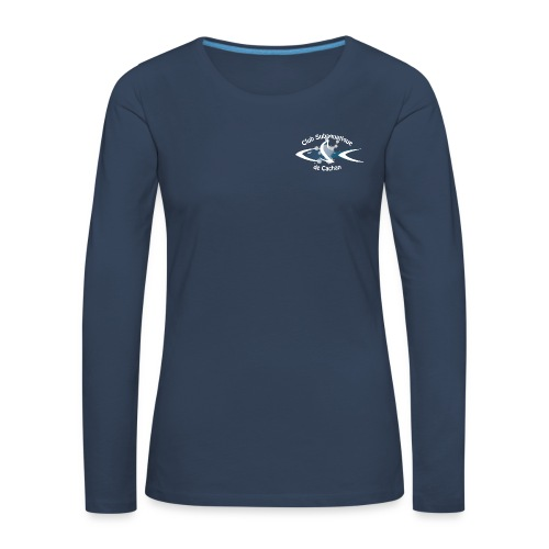 CSC Logo v2 text neg png - T-shirt manches longues Premium Femme