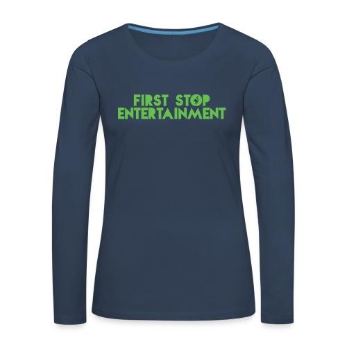 FSE text logo.png - Premium langermet T-skjorte for kvinner