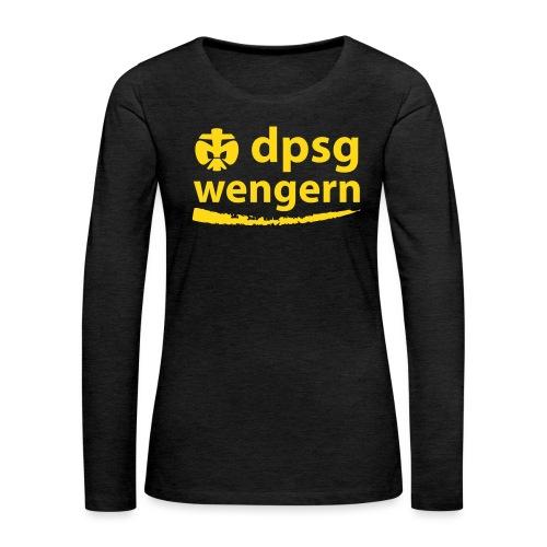 DPSG Wengern Front - Frauen Premium Langarmshirt
