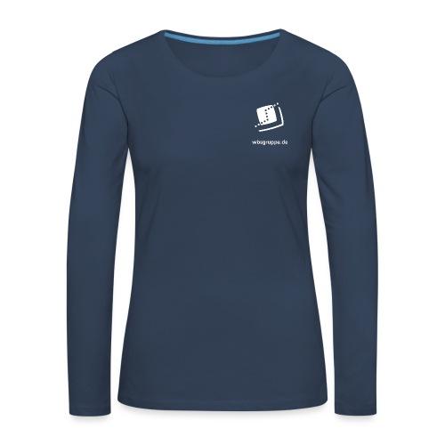 WBS Group Front white - Frauen Premium Langarmshirt
