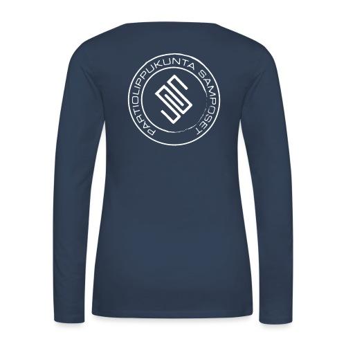 Leima läpinäkyvä - Naisten premium pitkähihainen t-paita