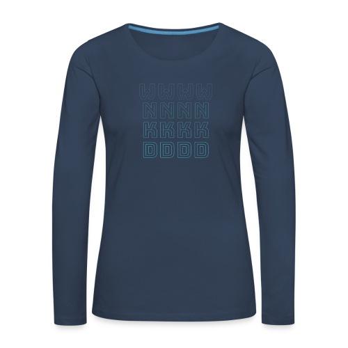 W N K D NIEBIESKIE - Koszulka damska Premium z długim rękawem