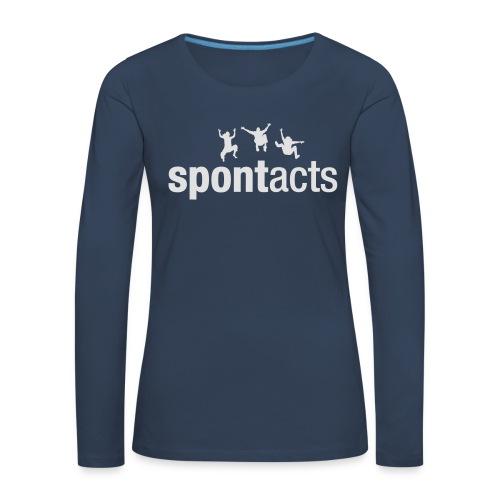 spontacts_Logo_weiss - Frauen Premium Langarmshirt