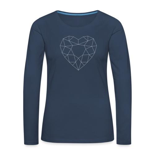 SchriftzugWhite - Frauen Premium Langarmshirt