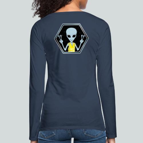 Extraterrestre Gilet jaune - T-shirt manches longues Premium Femme