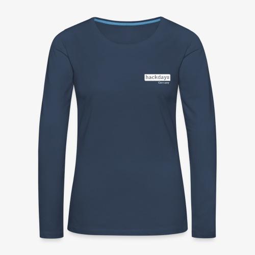 Hackdays - White Logo - Women's Premium Longsleeve Shirt