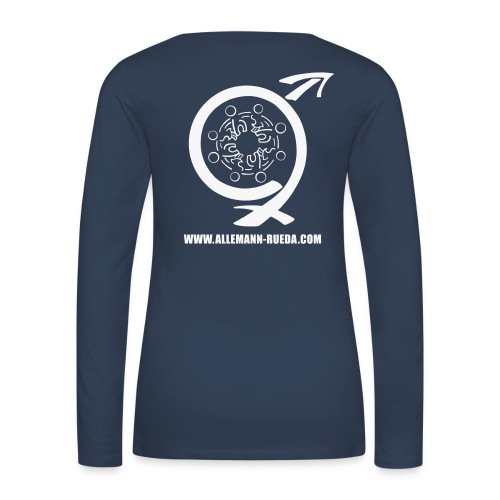 Allemann_Logo+Schrift_T-S - Frauen Premium Langarmshirt