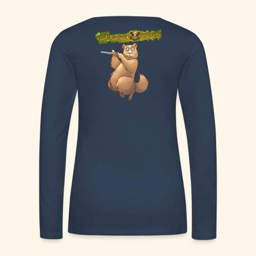 Tshirt Flute dos 2 - T-shirt manches longues Premium Femme