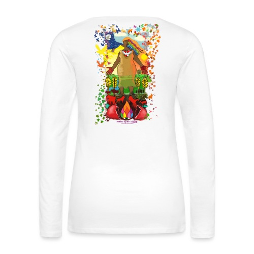 Mother Earth Creating - Vrouwen Premium shirt met lange mouwen