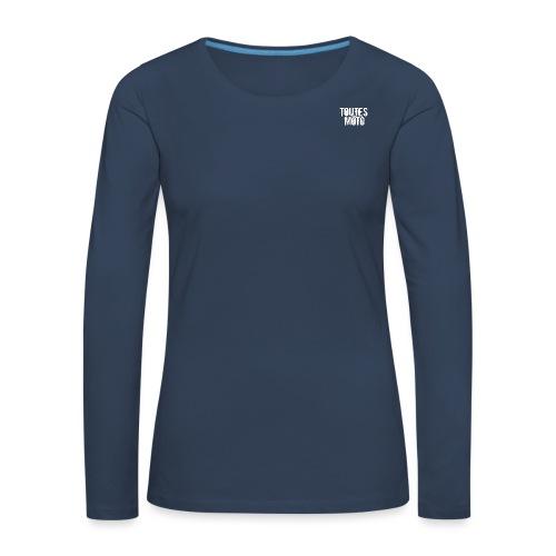 Logo TEM transparent blanc png - T-shirt manches longues Premium Femme