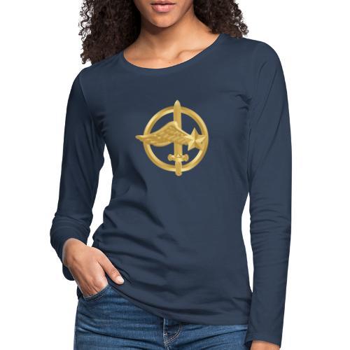 Tasse Fusiliers Commandos de l'Air - T-shirt manches longues Premium Femme