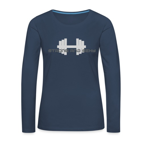 sasdumbell3 png - Vrouwen Premium shirt met lange mouwen
