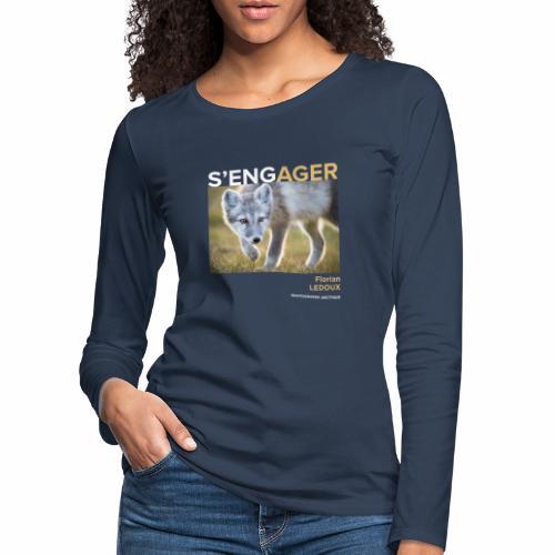 1 Achat = 1 Don à l'association Greenland Trees - T-shirt manches longues Premium Femme