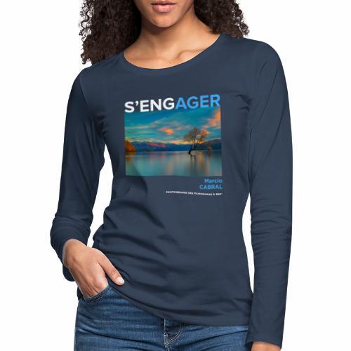 1 Achat = 1 Don Fondation Yann Arthus-Bertrand - T-shirt manches longues Premium Femme