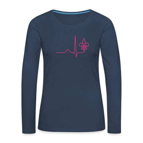 Scouts Heartbeat - Women's Premium Longsleeve Shirt