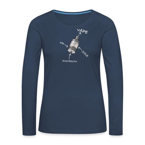 TShirt Ato blanc 1 png - T-shirt manches longues Premium Femme