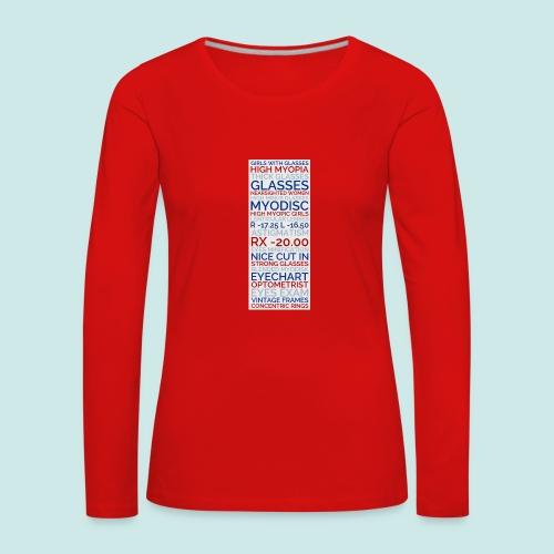 Myopia Poster 3 - T-shirt manches longues Premium Femme