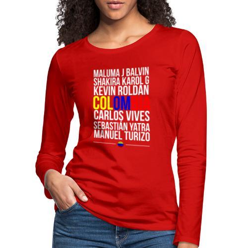 Reggaeton Shirt Kolumbien - Frauen Premium Langarmshirt