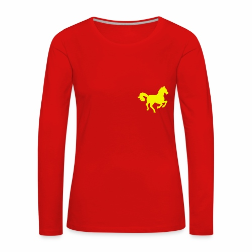Petit cheval Hippocamp - T-shirt manches longues Premium Femme