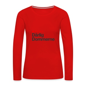 Dårligdommerne Sort tekst - Dame premium T-shirt med lange ærmer
