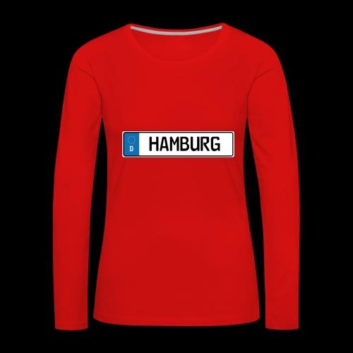 Kennzeichen Hamburg - Frauen Premium Langarmshirt
