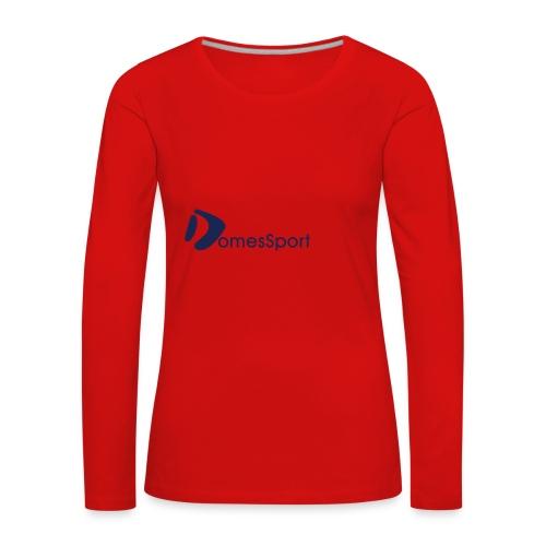 Logo DomesSport Blue noBg - Frauen Premium Langarmshirt