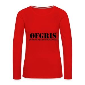 ØFGRIS - Premium - Dame premium T-shirt med lange ærmer