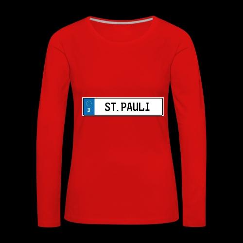 Kennzeichen St.Pauli - Frauen Premium Langarmshirt