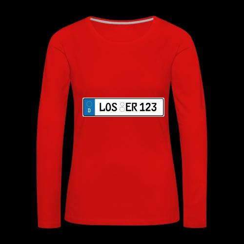 Kennzeichen Loser - Frauen Premium Langarmshirt