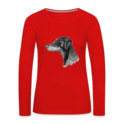 doberman pincher - Dame premium T-shirt med lange ærmer