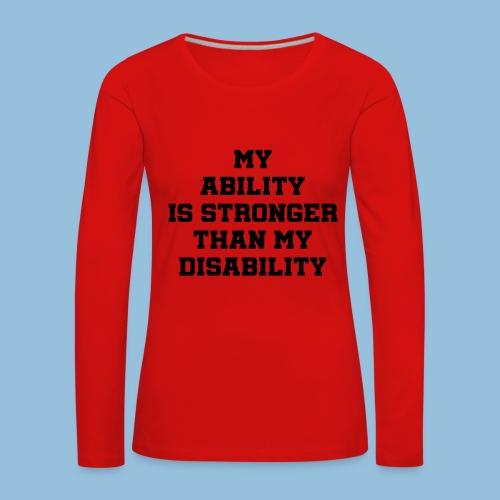 Ability3 - Vrouwen Premium shirt met lange mouwen