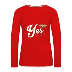 YES-we did it_white - Frauen Premium Langarmshirt