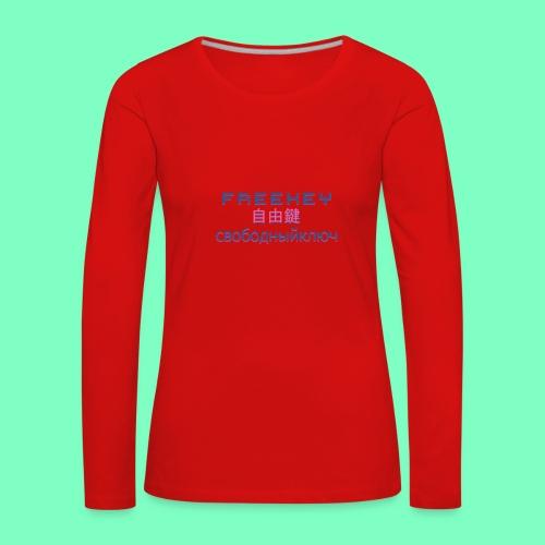 FreeKEY INTERNATIONAL CASTA N01 - Women's Premium Longsleeve Shirt