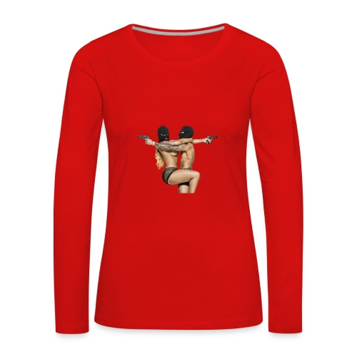 Bonnie & Clyde Love - Frauen Premium Langarmshirt
