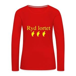 Ryd Lortet - Dame premium T-shirt med lange ærmer