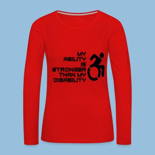 Ability1 - Vrouwen Premium shirt met lange mouwen