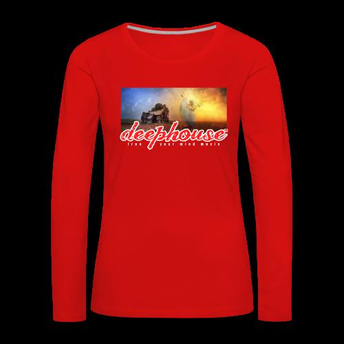 deep house - Frauen Premium Langarmshirt
