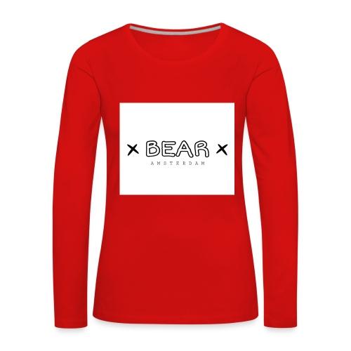 merk BEAR - Vrouwen Premium shirt met lange mouwen