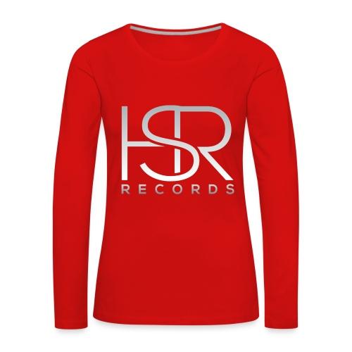 HSR RECORDS - Maglietta Premium a manica lunga da donna