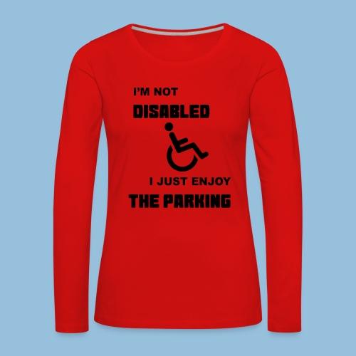 notdisabled1 - Vrouwen Premium shirt met lange mouwen